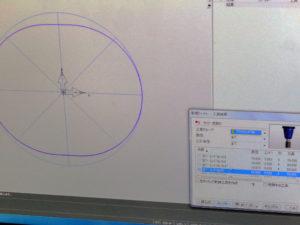 CADCAM画面の写真